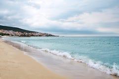 Beach on the Black Sea Stock Image