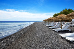 The beach with black volcanic stones Royalty Free Stock Photography