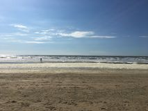 Beach. Bloemendaal Netherlands scenery view Royalty Free Stock Photography