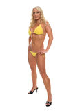 Beach Blond Yellow Bikini Royalty Free Stock Photos