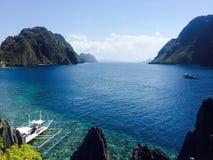 Beach, Blue, Boats royalty free stock photo