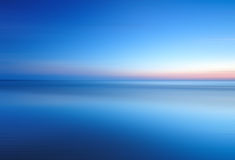 Beach blue hour in long exposure Stock Image