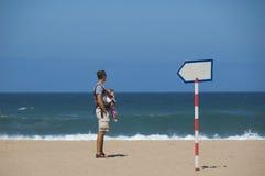 Beach: blue ocean and sand Stock Photography