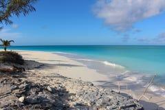 A beach in Long Island, Bahamas stock image