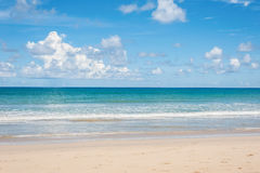 Beach and blue sea Royalty Free Stock Images