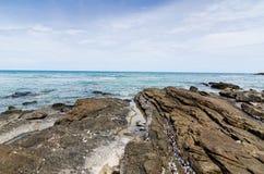 Beach and blue sea Stock Photos
