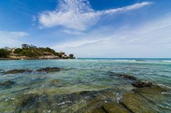 Beach and blue sea Stock Photo