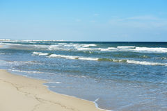 Beach and blue sea in a summer day, Apulia, southern Italy Royalty Free Stock Photography