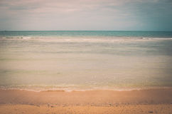Beach and blue sea vintage Stock Photography