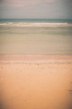 Beach and blue sea vintage Royalty Free Stock Image