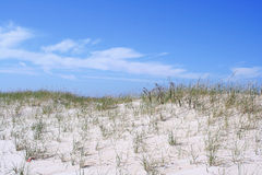 The beach and Blue Sky stock image