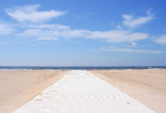 The beach and Blue Sky stock photography