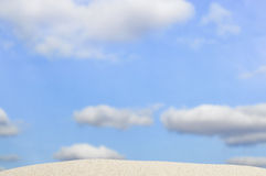 Beach and blue sky in background Royalty Free Stock Photography