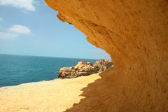 Beach Blue Sky Beach Tan Cliff Royalty Free Stock Photography