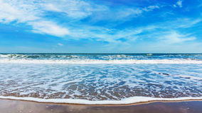 Beach and blue sky on daylight Royalty Free Stock Photos