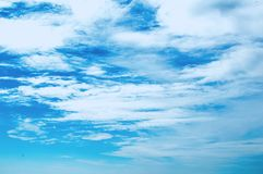 Beach blue sky in the ocean paradise  Royalty Free Stock Photo