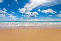 Beach and blue sky Stock Photography