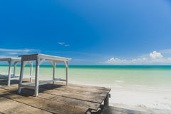 Beach and blue sky Royalty Free Stock Photo