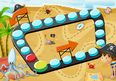 Beach board game Royalty Free Stock Image
