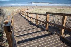 Beach boardwalk Stock Images