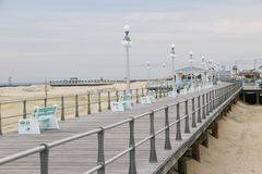 Beach Boardwalk. An inviting beach boardwalk along the Jersey Shore Stock Photo