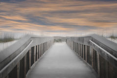Beach Boardwalk Stock Photography