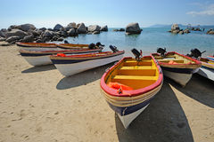 Beach  with boat Stock Photos