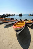 Beach  with boat Stock Photo
