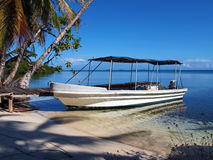 Beach and boat Royalty Free Stock Images