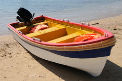 Beach  with boat Royalty Free Stock Image