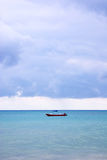 Beach boat. Boat in the ocean sea of cancun stock photos