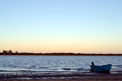 Beach Boat. Boat at Colon Entre Rios Stock Images
