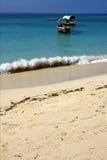 Beach and boat in prison island  tanzania zanzibar Royalty Free Stock Image