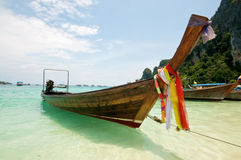 Beach Boat Thailand Stock Photo