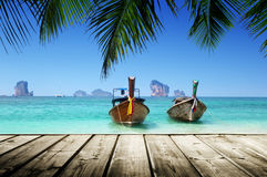 Beach and boats, Andaman Sea Royalty Free Stock Image