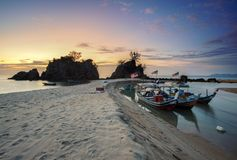 Beach, Boats, Calm stock photos