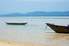 Beach and boats on Koh Phangan - Thailand Royalty Free Stock Photography