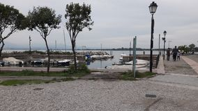 Beach and boats. Lovely place in Italy beach Stock Image