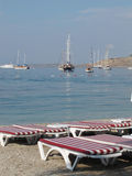 Beach of Bodrum Stock Image