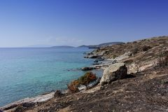 Beach of Bodrum stock photos