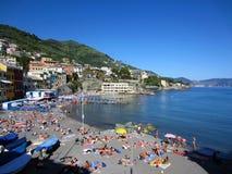 Beach in Bogliasco, Italy Royalty Free Stock Photos