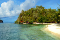 Beach on Bolilanga Island. Togean Islands Royalty Free Stock Photos