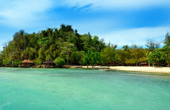 Beach on Bolilanga Island. Togean Islands. Indonesia. Stock Photos