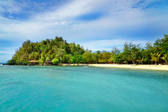 Beach on Bolilanga Island. Togean Islands. Indonesia. Royalty Free Stock Images