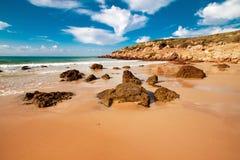 Beach Bolonia, province Cadiz, Andalucia, Spain Stock Images