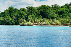 Beach on Bomba island. Togean Islands. Indonesia. Beautiful tropical beach on Bomba island. Togean Islands or Togian Islands in the Gulf of Tomini. Central Stock Images