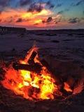 Beach Bonfire Stock Image