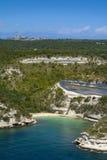 beach at Bonifacio, Corsica. Beach at Bonifacio coast Stock Photography