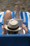 Beach Bookworm Royalty Free Stock Image