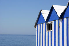 Beach booths Royalty Free Stock Images